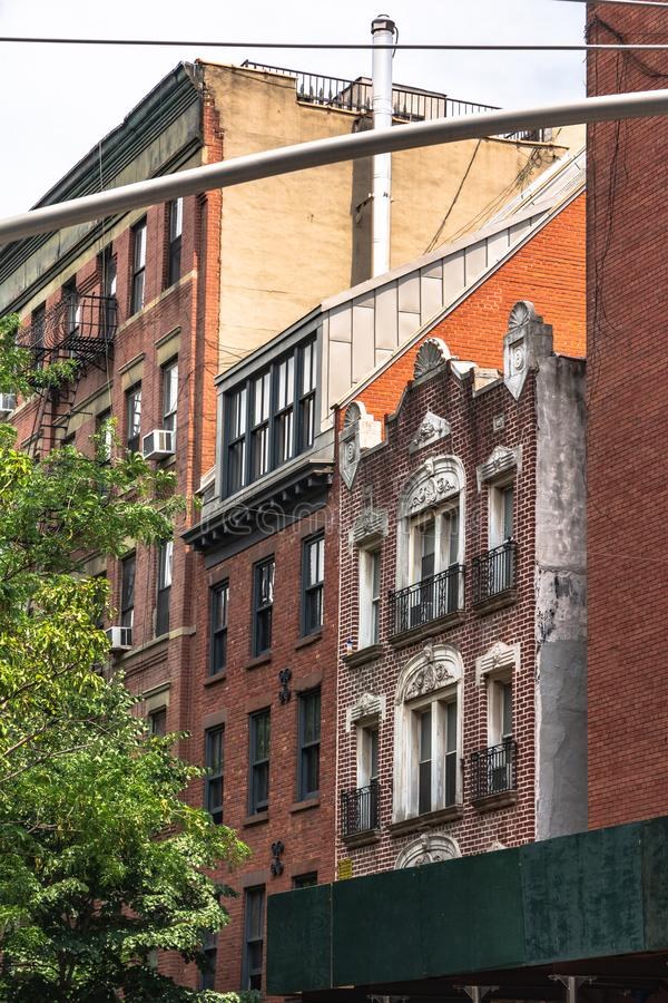 Camere nella vicinanza di Nolita, Manhattan, NYC fotografia stock