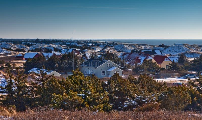 Camere per affitto al litorale danese immagine stock libera da diritti