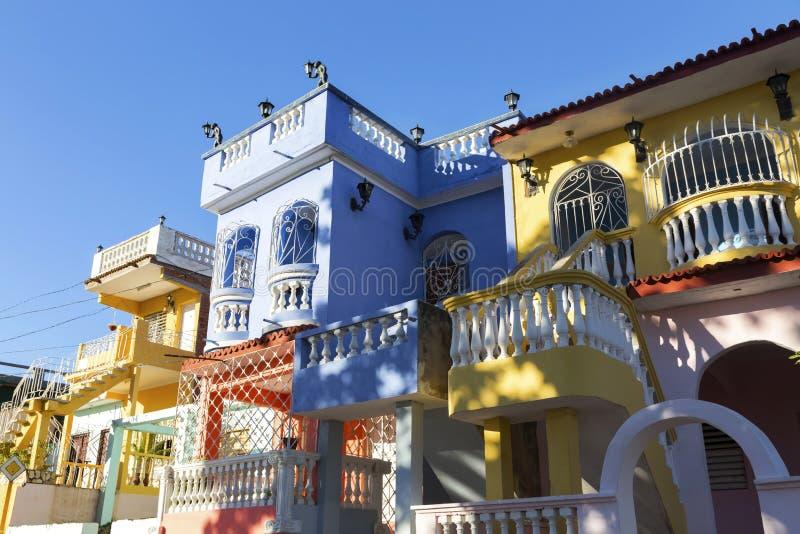Camere residenziali cubane private di propriet? dalla gente ricca in Trinidad Cuba fotografia stock