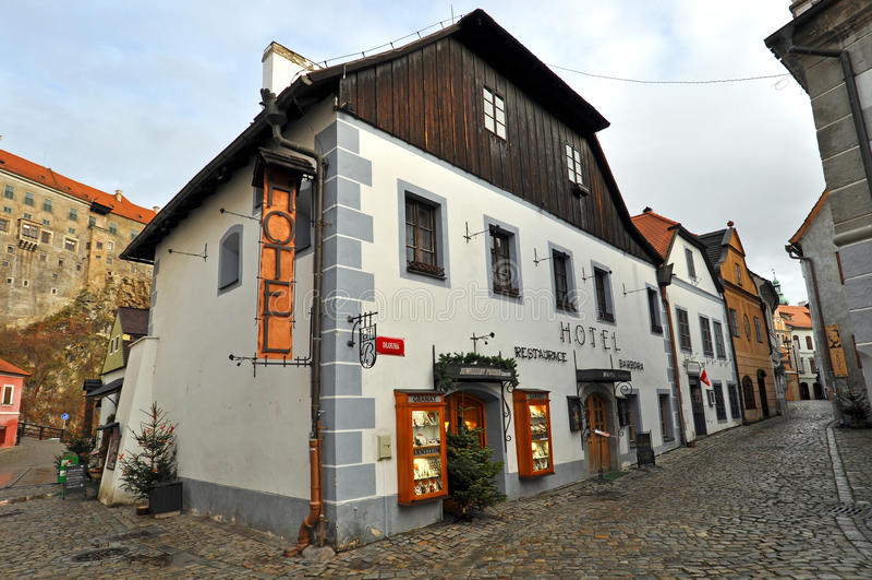 Camere storiche in Cesky Krumlov immagini stock libere da diritti