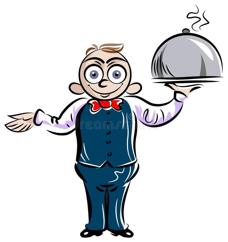 cameriere illustrazione di stock