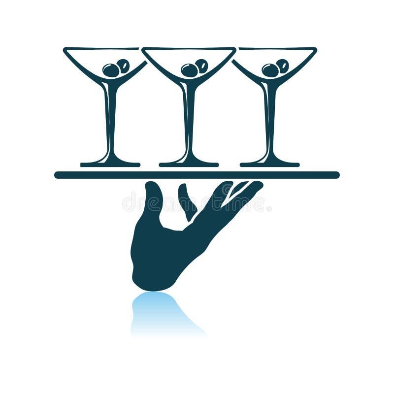Cameriere Hand Icon royalty illustrazione gratis