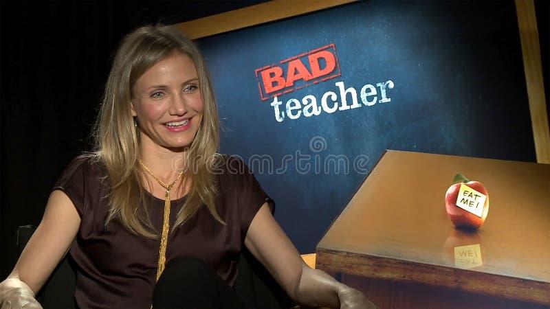 Cameron Diaz. At the Bad Teacher Press Junket royalty free stock image