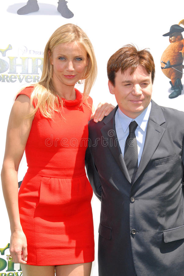 Download Cameron Diaz,Mike Myers editorial stock image. Image of gibson - 25673364