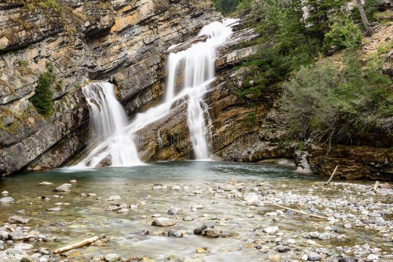 Cameron Fallls, εθνικό πάρκο λιμνών Waterton, Αλμπέρτα, Καναδάς στοκ εικόνες