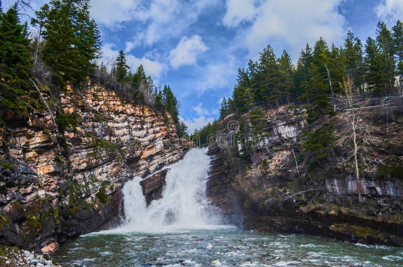 Cameron Falls - Waterton fotografia de stock