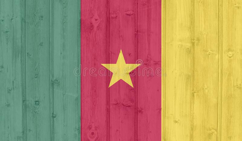 Cameron flagga arkivbilder
