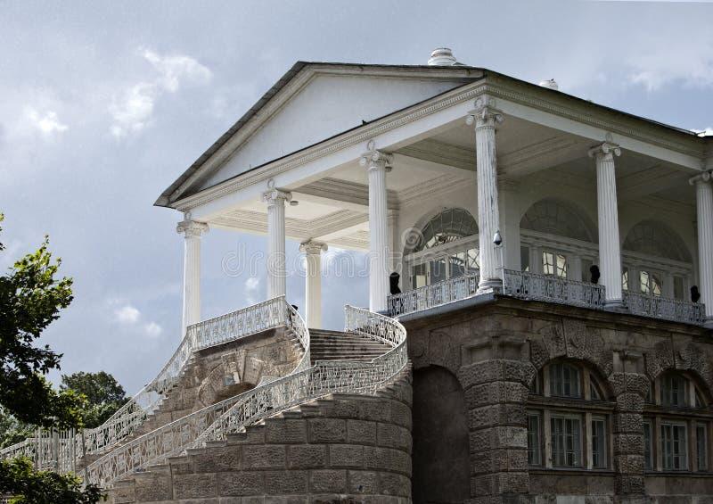 cameron galleri 24 för petersburg för park för nobility för km för catherine besök för tsarskoye för st för center familj tidigar fotografering för bildbyråer