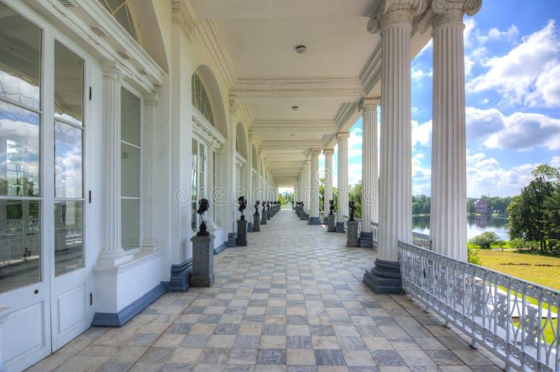 Cameron Gallery en parc de Catherine, Tsarskoe Selo, Pushkin, St Petersbourg, Russie photographie stock libre de droits