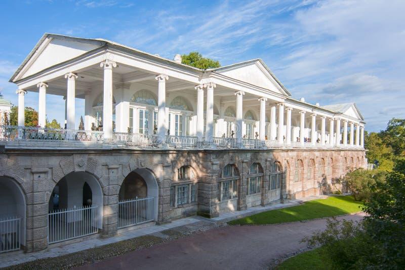 Cameron Gallery i Catherine parkerar, Tsarskoe Selo, Pushkin, St Petersburg, Ryssland royaltyfria bilder