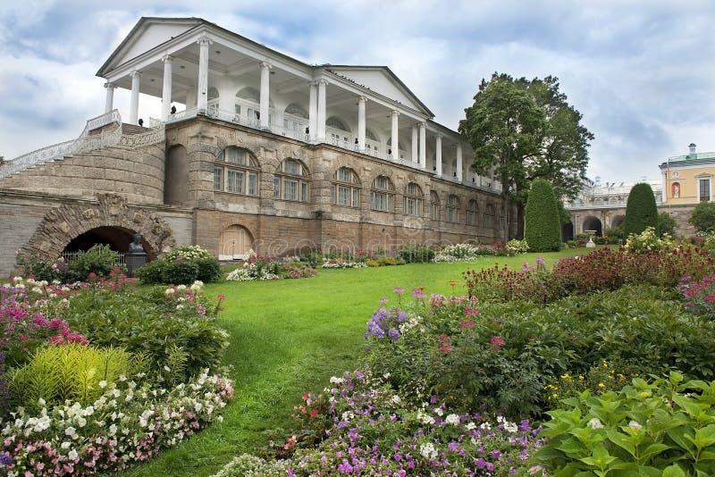 Cameron Gallery i Tsarskoye Selo (Pushkin), St Petersburg royaltyfri fotografi