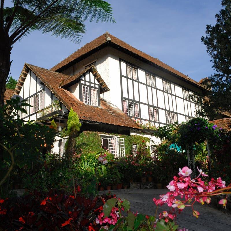 Cameron Highlands Smokehouse Hotel y el restaurante fotografía de archivo libre de regalías