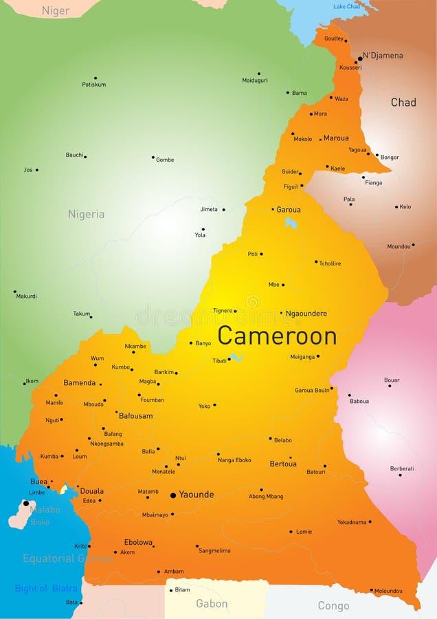 cameroon illustration stock