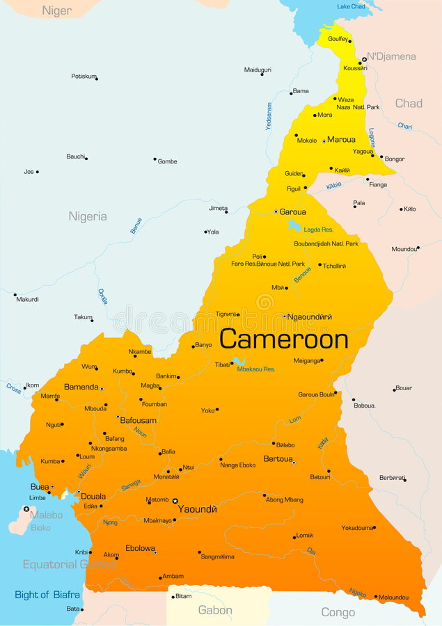 Cameroon royalty ilustracja