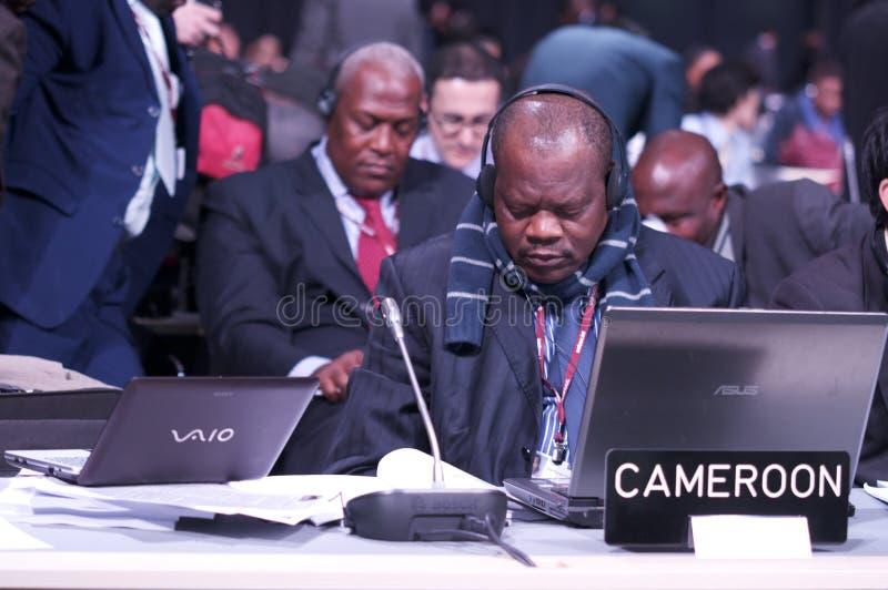 cameroon delegation arkivfoton