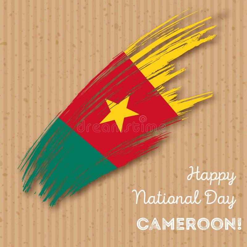 Cameroon dnia niepodległości Patriotyczny projekt ilustracja wektor
