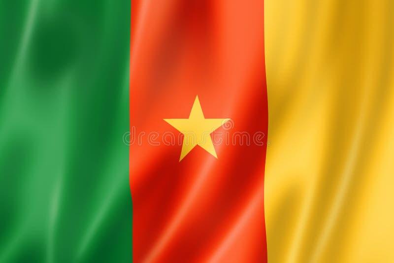 Cameroon flaga royalty ilustracja