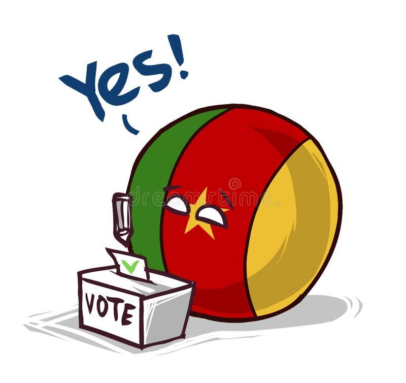 Cameroon głosuje tak ilustracji