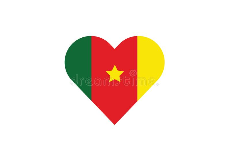 Cameroon love heart shape africa royalty free illustration