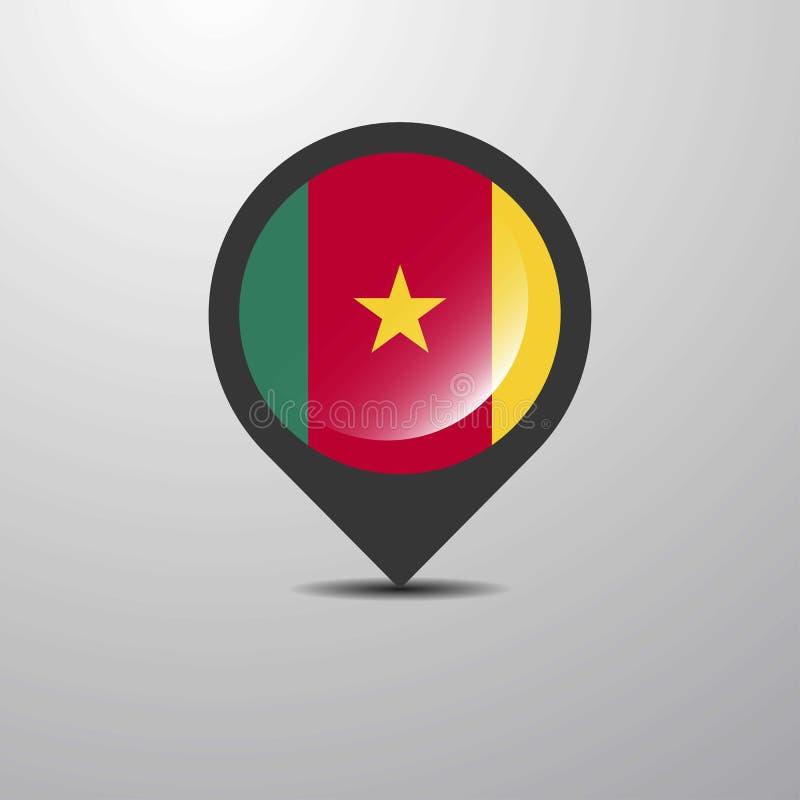 Cameroon mapy szpilka ilustracji