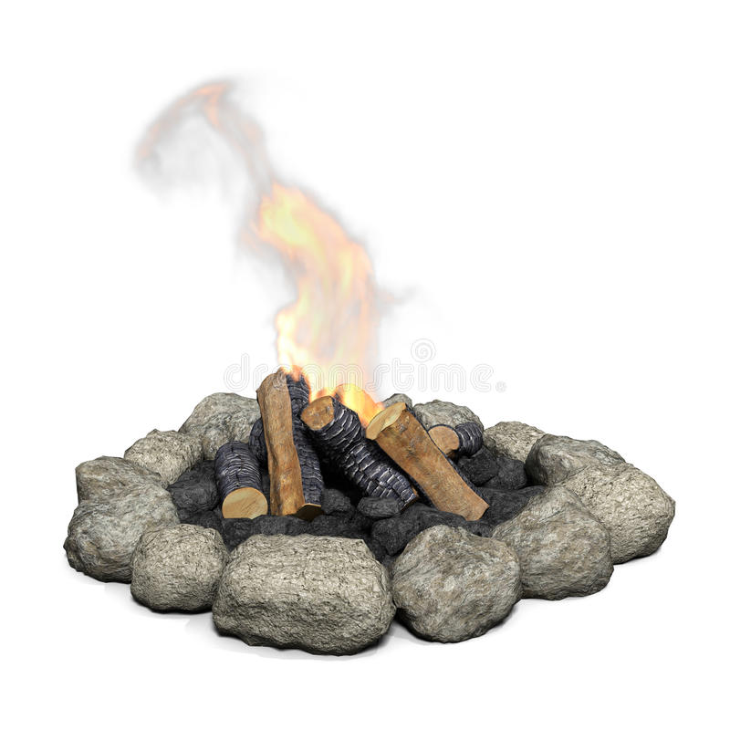 Camfire con el fuego. libre illustration