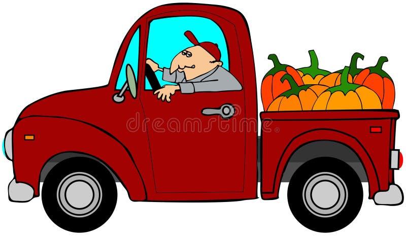 Camião de abóboras ilustração royalty free