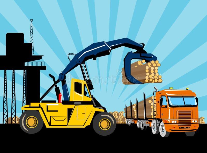 Camião de registo do caminhão de forklift ilustração royalty free