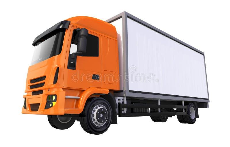 Camión anaranjado del cargo de Cub libre illustration