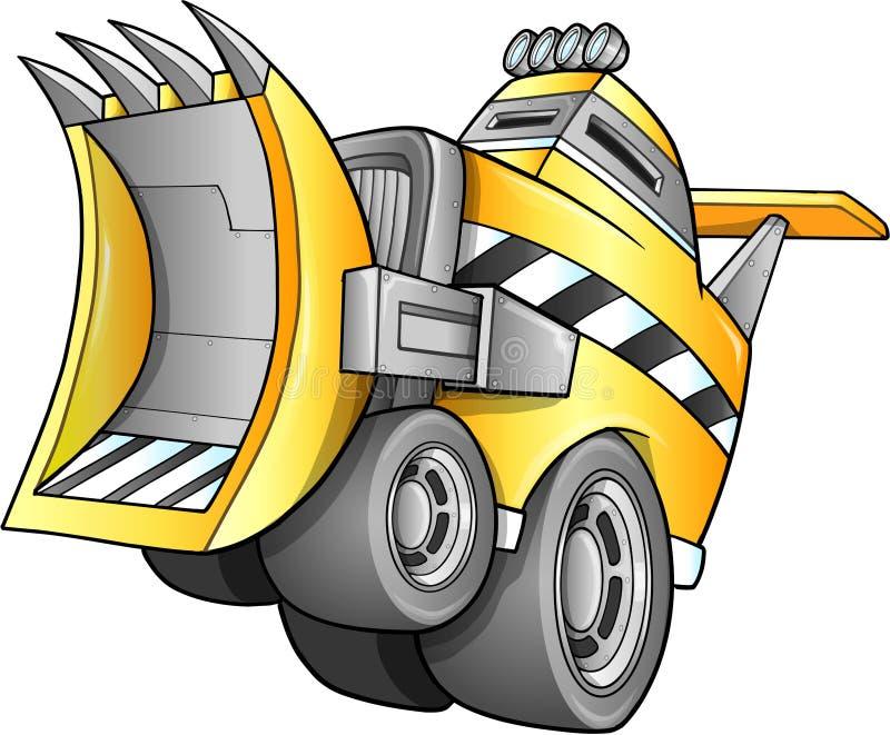 Camión apocalíptico de la niveladora stock de ilustración