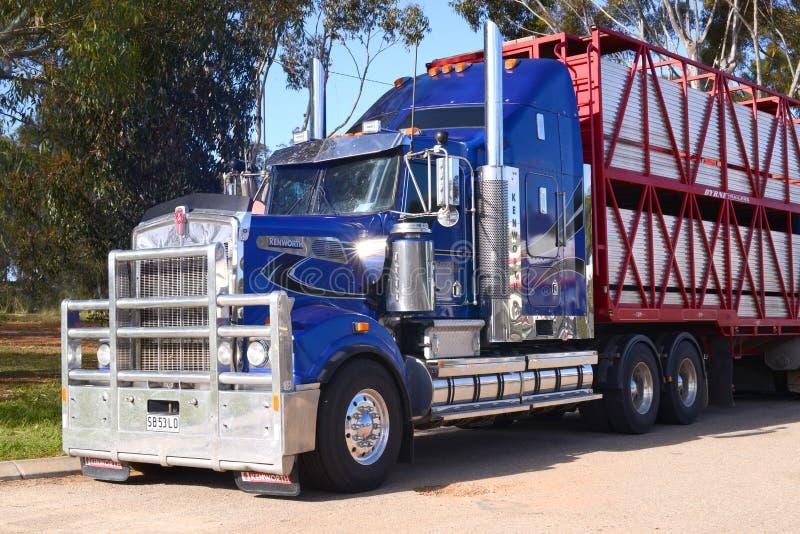 Camión australiano del tren de camino fotos de archivo libres de regalías