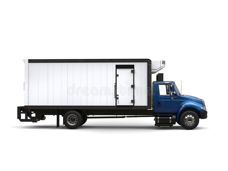 Camión azul del refrigerador - vista lateral libre illustration