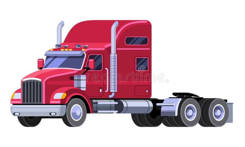 Camión clásico del tractor con el taxi del durmiente stock de ilustración
