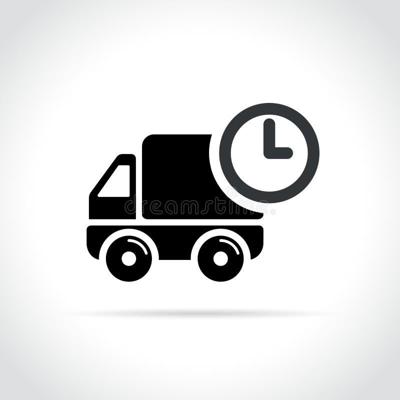 Camión con concepto del icono del tiempo ilustración del vector