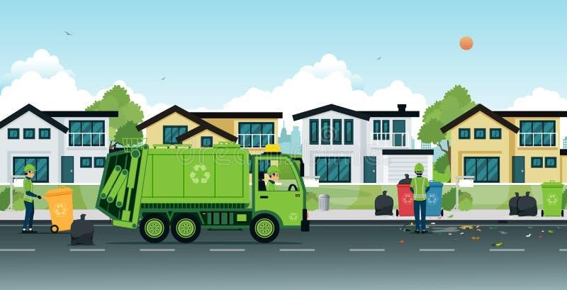 Camión de basura stock de ilustración