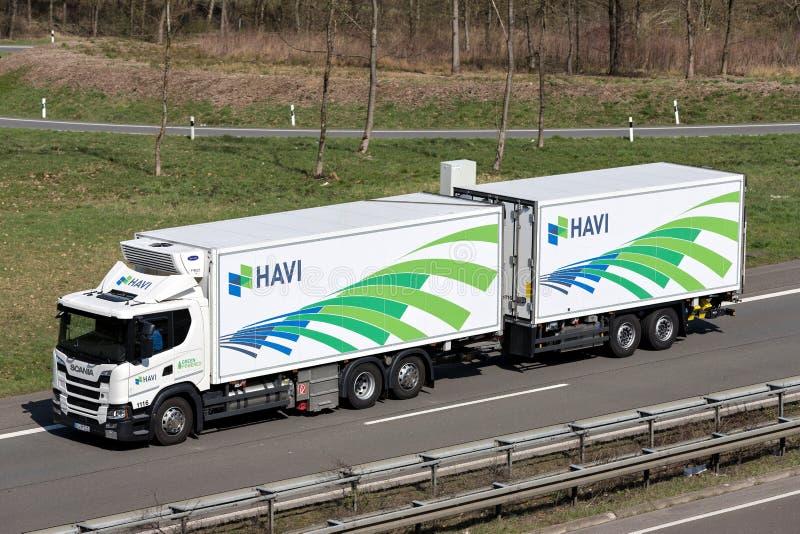 Camión de HAVI imagenes de archivo