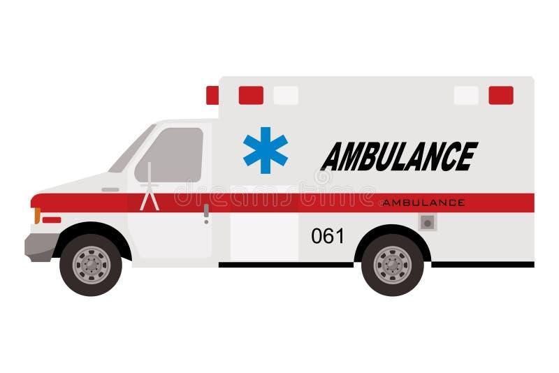 Camión de la ambulancia stock de ilustración