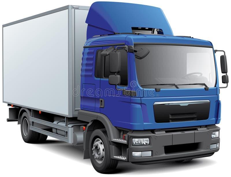 Camión de la caja con cabine azul libre illustration
