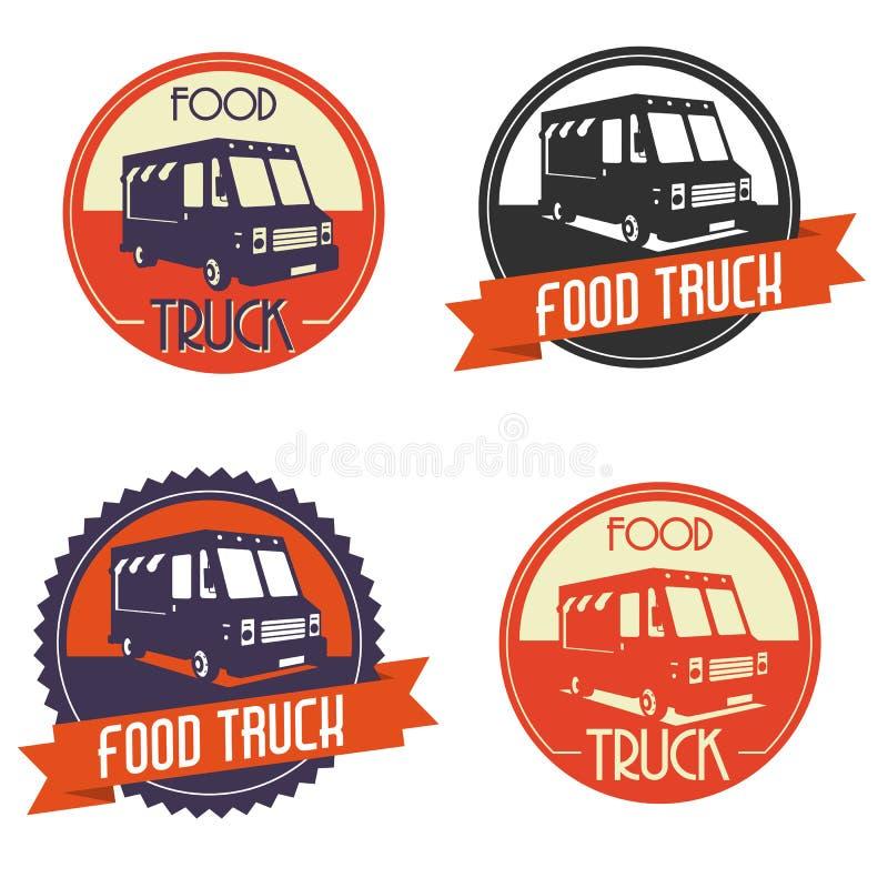 Camión de la comida del logotipo stock de ilustración