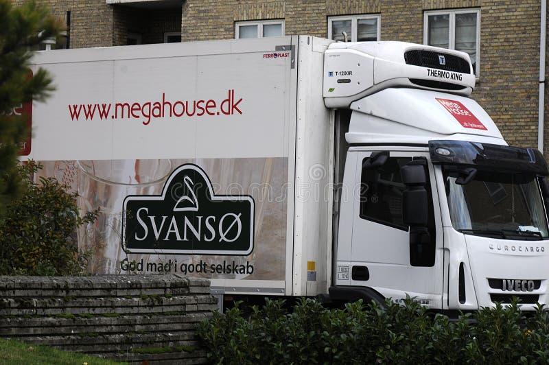 Camión de la entrega de la comida del _megahouse de Svanso imágenes de archivo libres de regalías