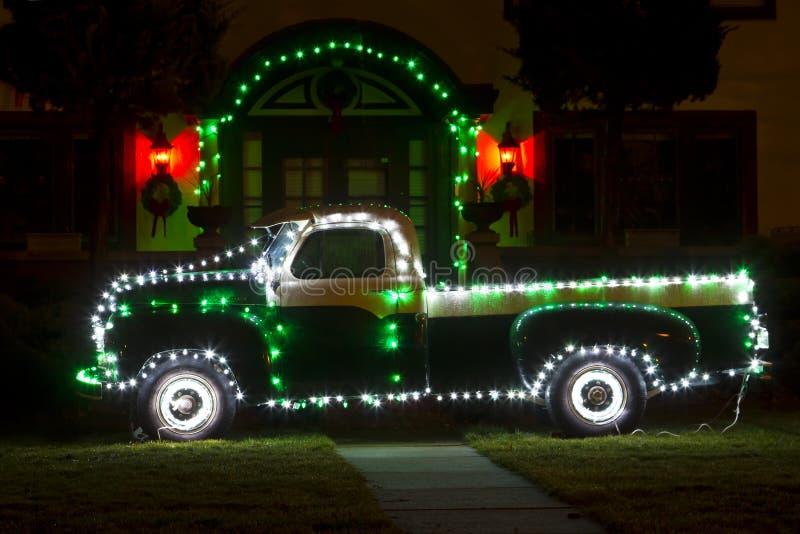 Camión de la Navidad fotografía de archivo libre de regalías