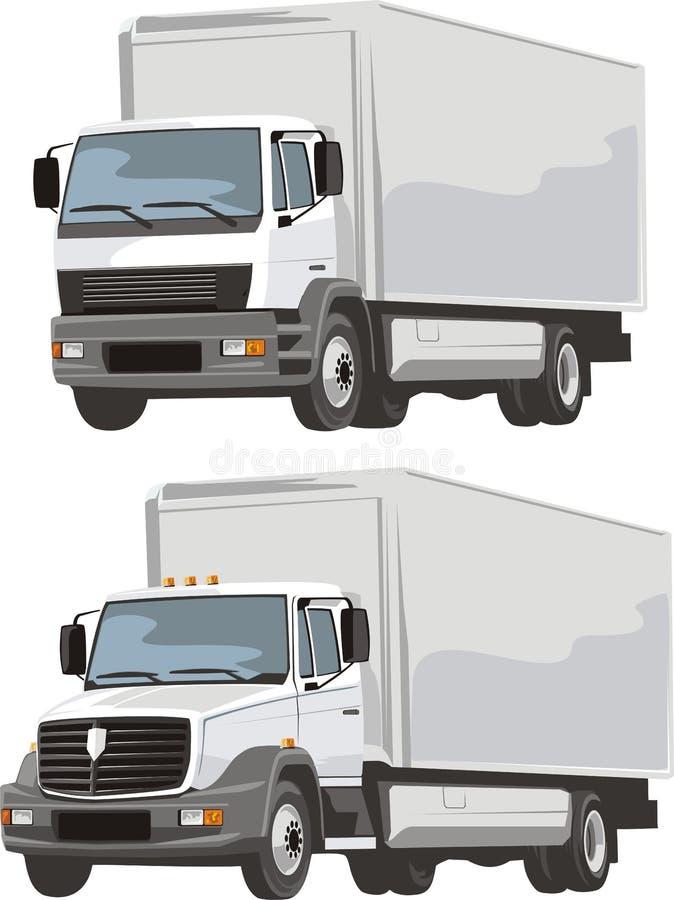 Camión de la salida ilustración del vector