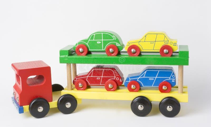 Camión de madera del cargo fotos de archivo
