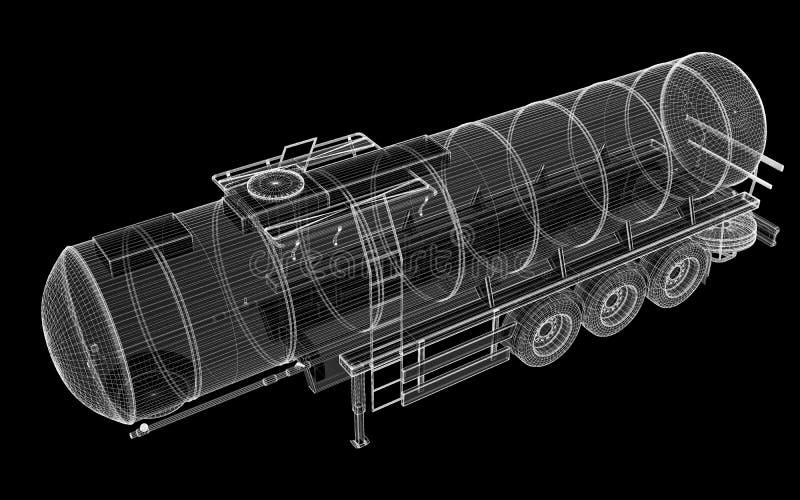 Camión de petrolero aislado fotografía de archivo