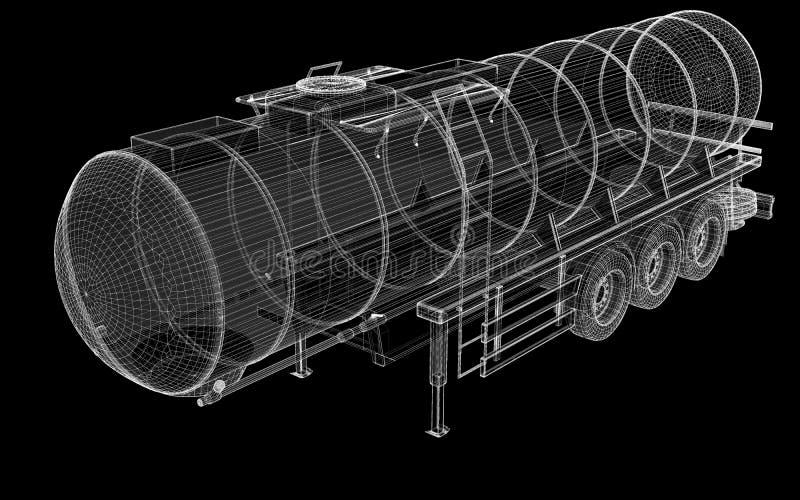 Camión de petrolero aislado foto de archivo