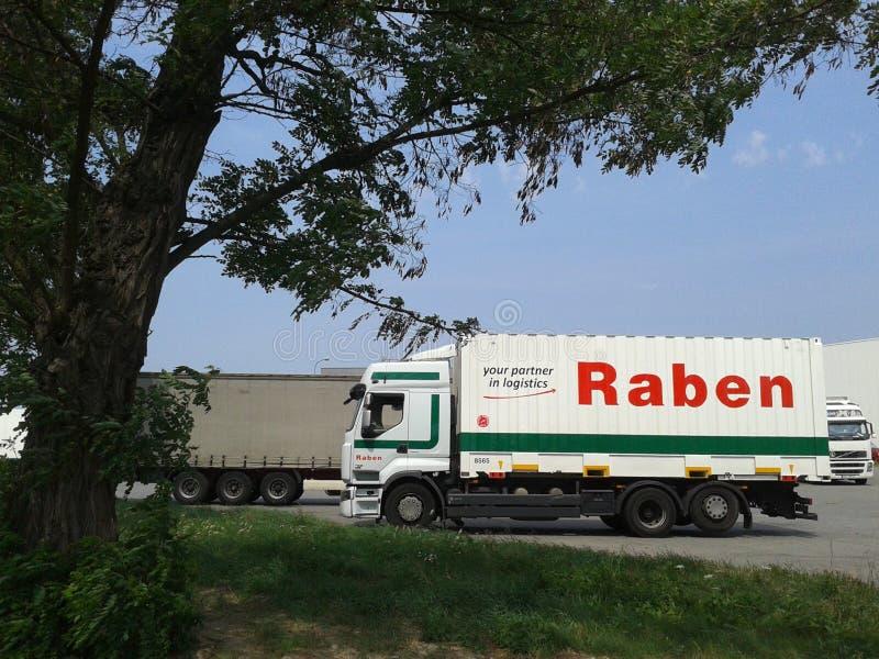 Camión de Raben fotos de archivo libres de regalías