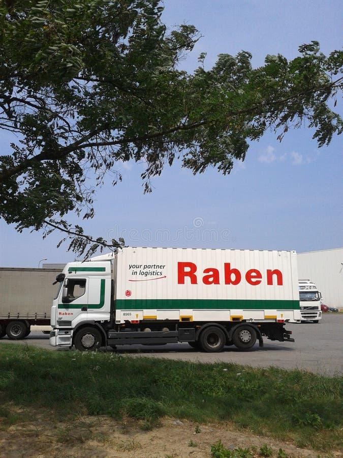 Camión de Raben fotos de archivo
