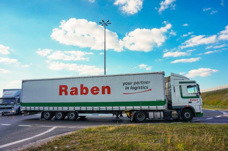 Camión de Raben foto de archivo libre de regalías