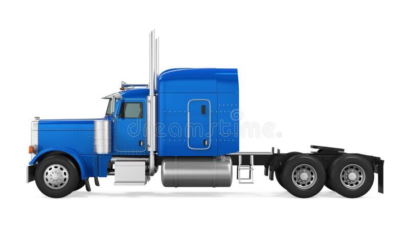 Camión de remolque azul aislado ilustración del vector