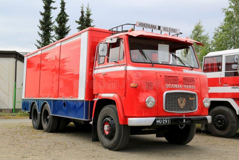 Camión de remolque clásico de Scania Vabis LBS76 fotografía de archivo