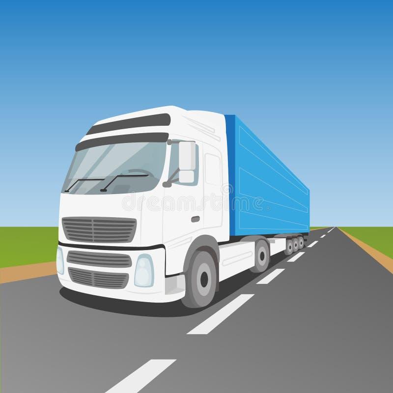 Camión de reparto blanco libre illustration